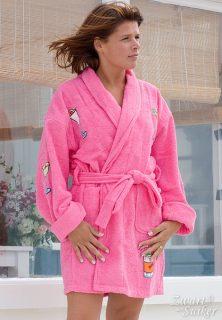 dames badjas roze